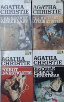 Könyv: The Secret Adversary + The Mysterius Affair at Styles + Poirot Investigates + Hercule Poirots Christmas (4 kötet) (Agatha Christie)